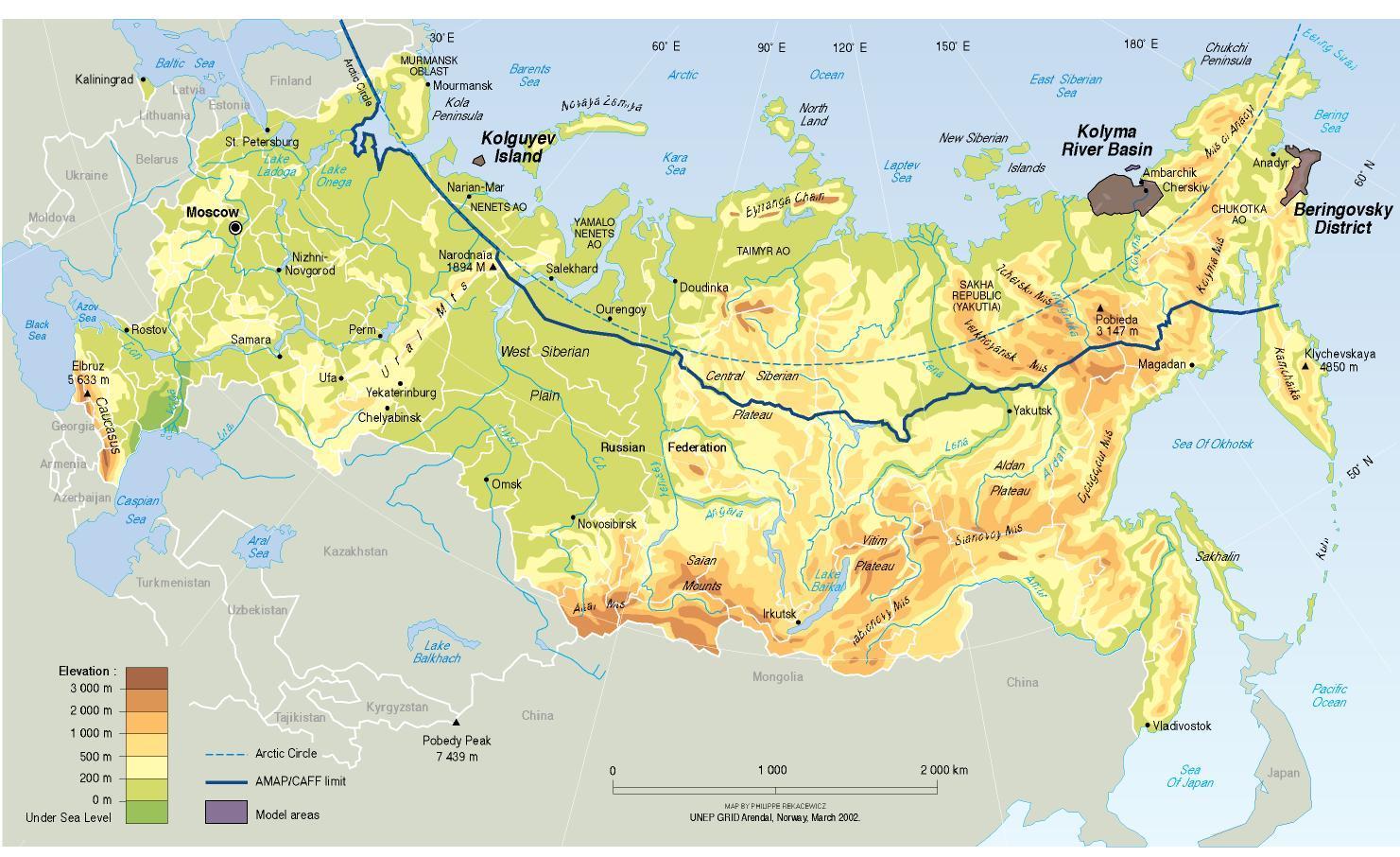 Cartina Fisica E Politica Della Russia.Mappa Fisica Della Russia Mappa Fisica Russia Europa Dell Est Europa