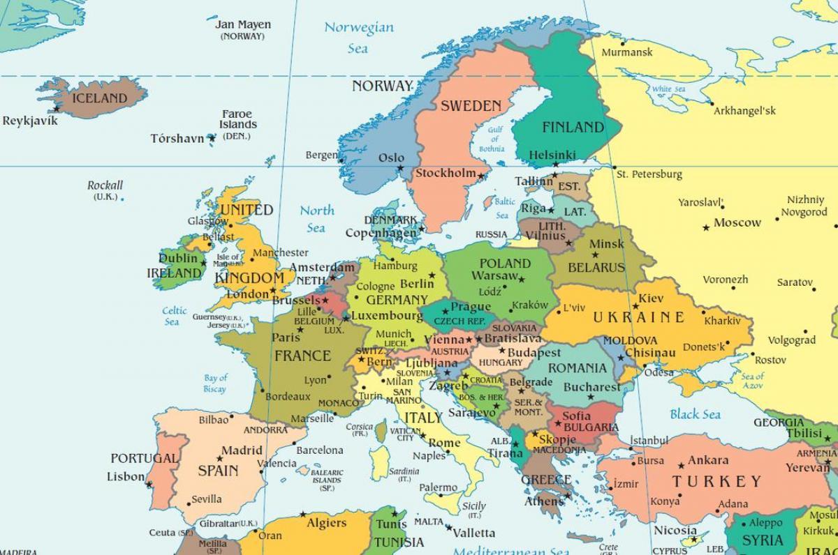 Cartina Europa Russia