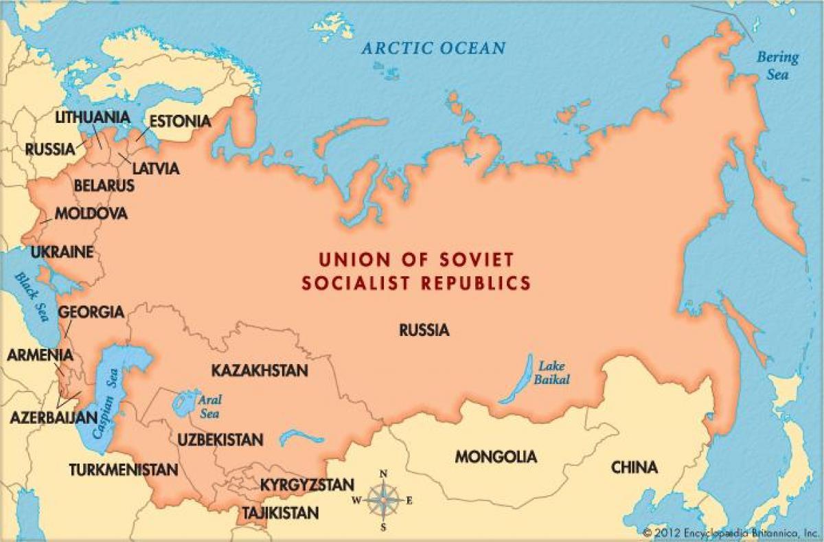 Cartina Urss.Mappa Del Mondo Urss Mappa Del Mondo Con L Urss Europa Dell Est Europa