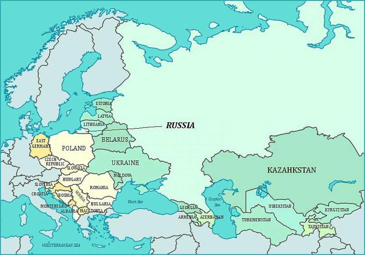 Cartina Urss.Mappa Dell Ex Urss La Mappa Dell Ex Urss Europa Dell Est Europa