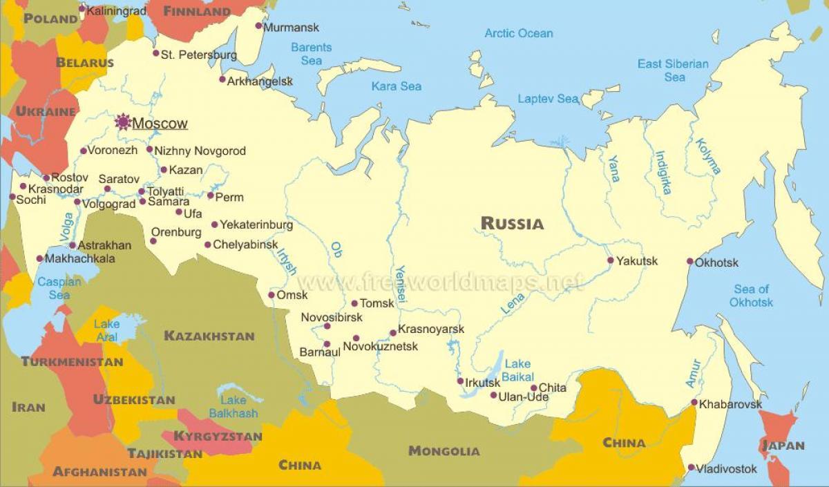 Cartina Siberia Russia.Samara Russia Mappa