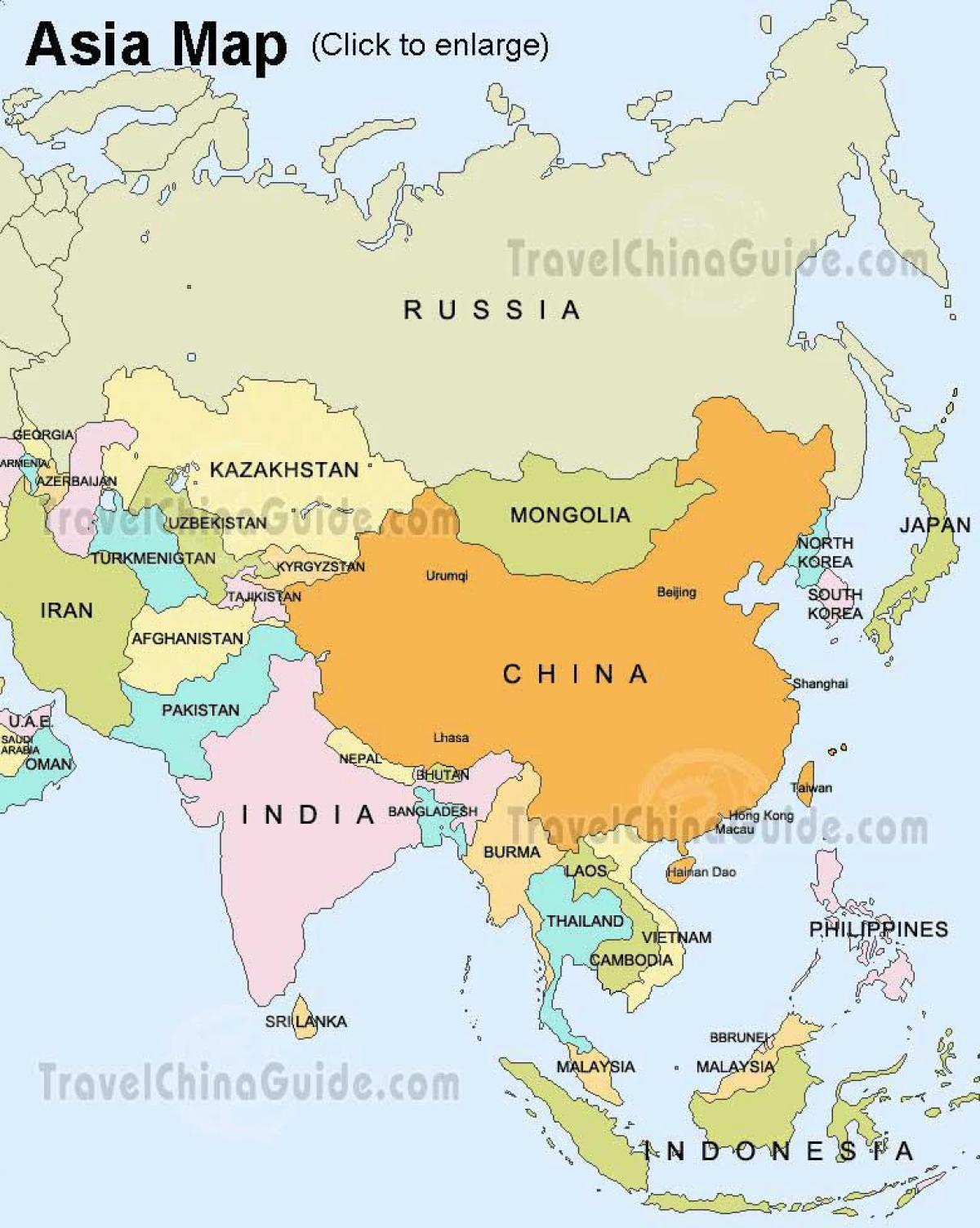 Europa E Asia Cartina.Mappa Della Russia E Asia Russia Asia Mappa Europa Dell