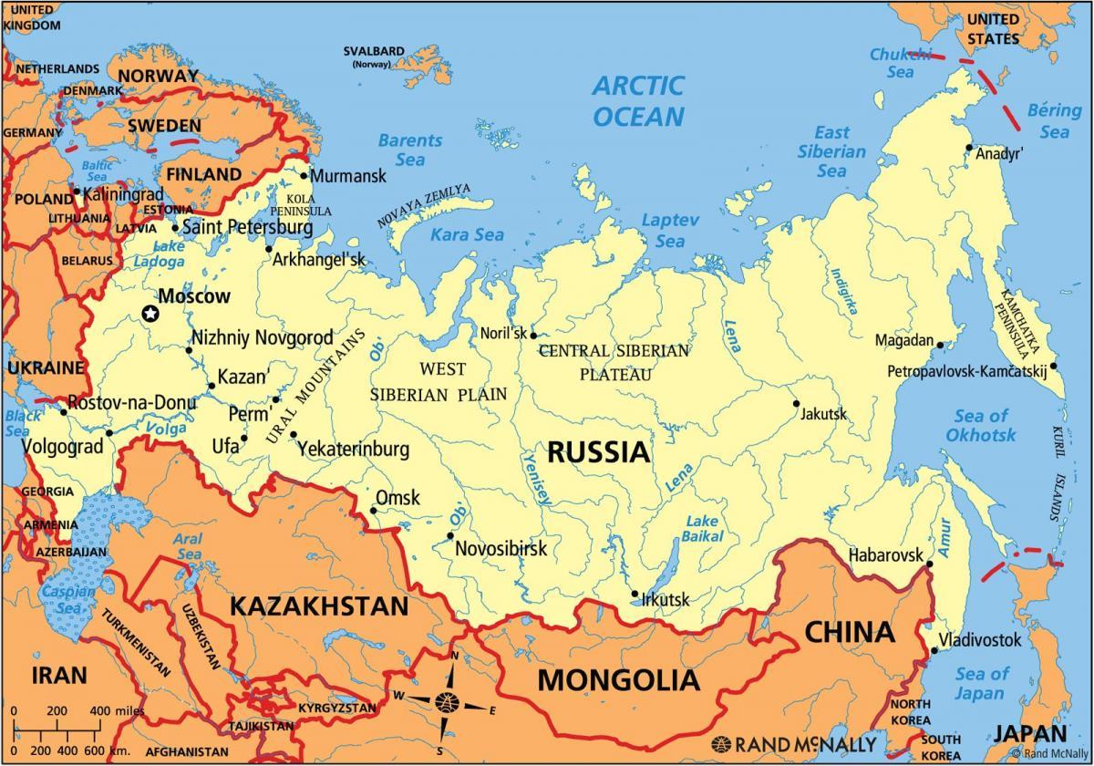 La Cartina Della Russia.Mappa Politica Della Russia Mappa Politica Della Russia Europa Dell Est Europa