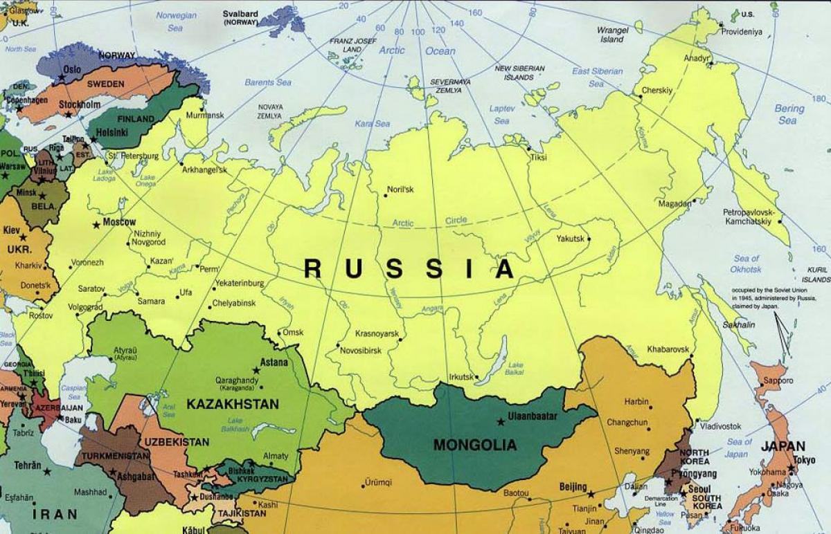 Russia Cartina Politica Italiano