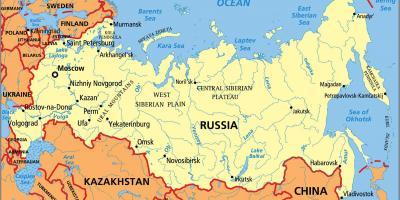 Cartina Fisica E Politica Della Russia.Russia Mappa Mappe Di Russia Europa Dell Est Europa